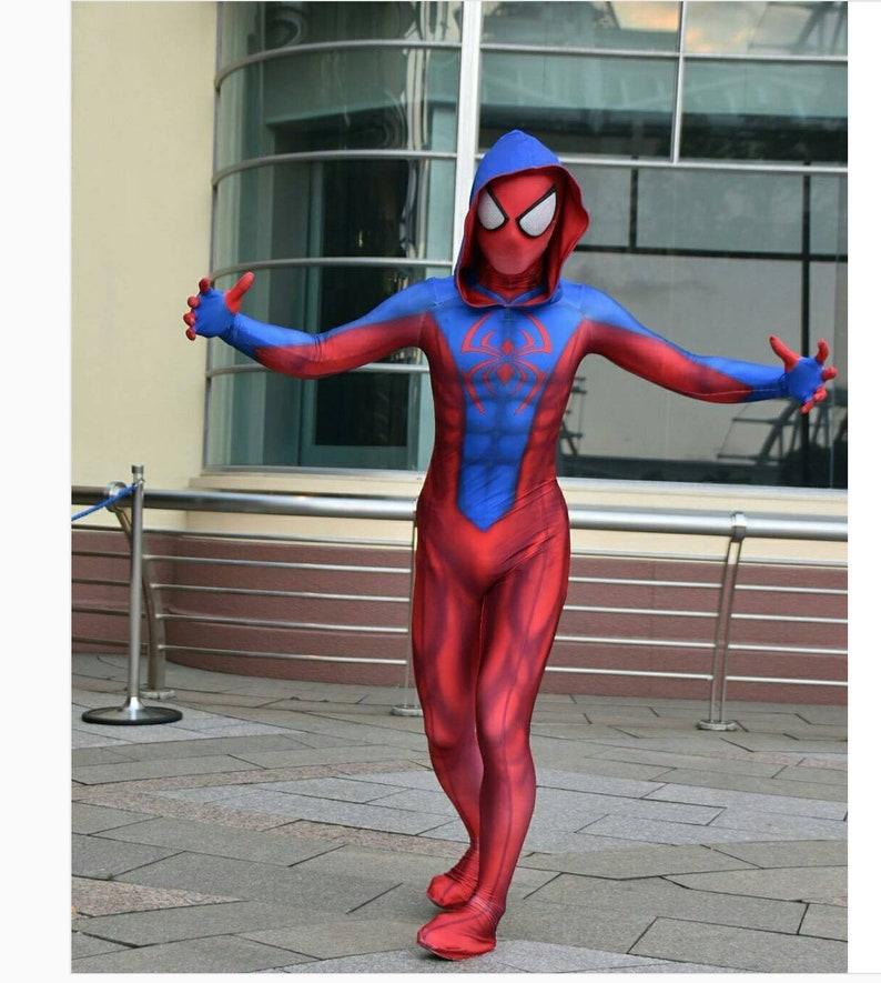 Ben Reilly Spiderman Costume Mens Boys Cosplay Costume