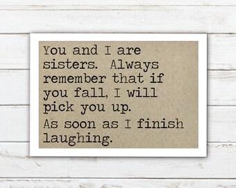 Sister funny refrigerator magnet, kitchen decor, gift for sister