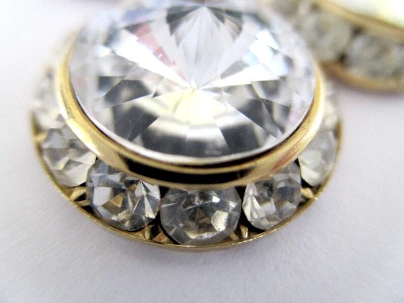 Crystal Dangle Earrings Vintage Sparkly Earrings Round Dangle /& Drop Earrings Classic Vintage Jewelry Glamorous Bridal Earrings