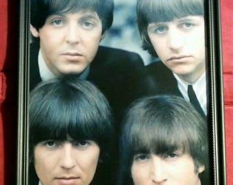 The Beatles Framed Art Photo Print Pop Rock Roll Music Memorabilia Gift Present