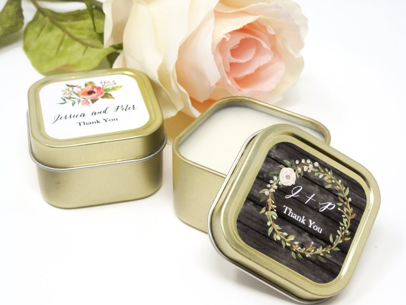 Gold Wedding Favors Custom Candle Wedding Favors Personalized image 0