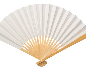 White Paper Fans -Wedding, Birthday, Anniversary Favors 24 pieces