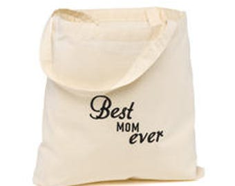 Best Ever Wedding Party Tote Bags - Best Mom Ever, Bridal Party Tote Bags
