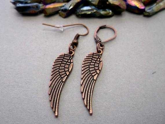 One  Wing dangle  Copper wing  Metal wing earring Small copper wing simple men wing copper men wing symbol wing men copper wing  Men wing