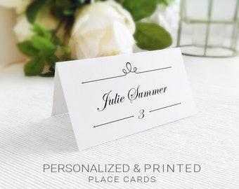 wedding table place cards personalized table name cards with fold table name cards custom name place cards - Table Place Cards
