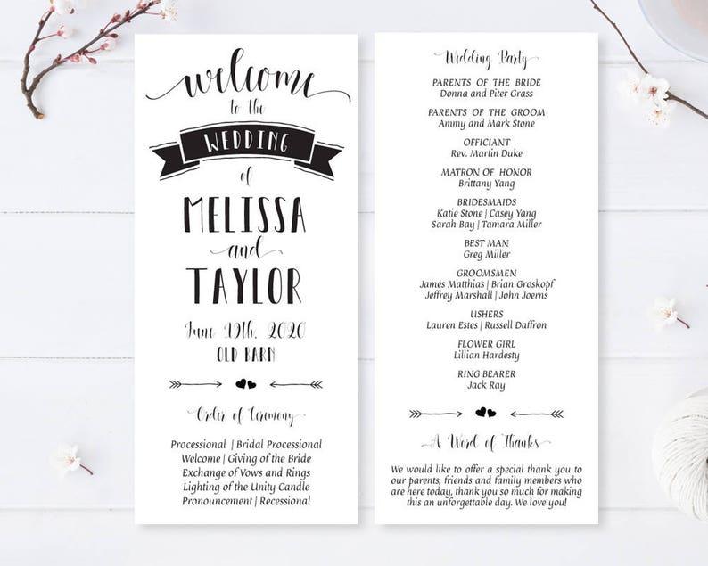 Cheap Wedding Programs.Printed Modern Programs For Wedding Cheap Wedding Programs Black And White Wedding Ceremony Program