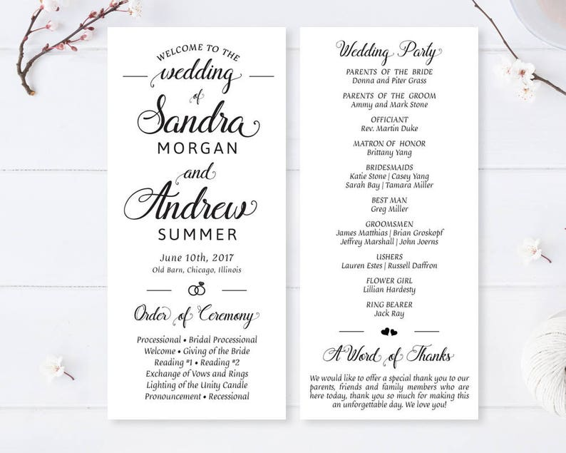 Cheap Wedding Programs.Printed Cheap Wedding Programs Modern Calligraphy Programs For Wedding Elegant Wedding Ceremony Program