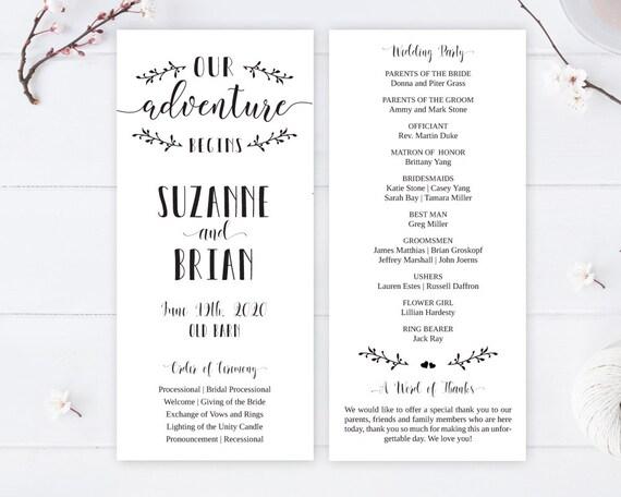 Cheap Wedding Programs.Printed Wedding Programs Cheap Ceremony Programs For Wedding Order Of Service Program Our Adventure Begins Wedding Programs