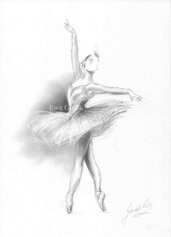 Ballerina Druck, Ballerina Skizze, Ballerina Zeichnung, Druck Ballett, Balletttänzerin, Druck der Tänzerin, Ballett Kunst, Ballerina Kunst, Geschenk