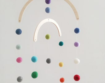 Great mobile with felt balls of your choice