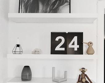 Cool typography wall calendar