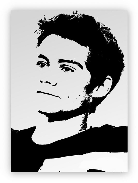 Dylan Obrien Mirror Hand Engraved Sandblasted And Etsy