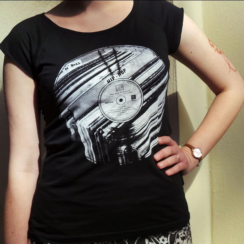 Old School Hip Hop  Vinyl Records DJ T shirt music t shirt image 0