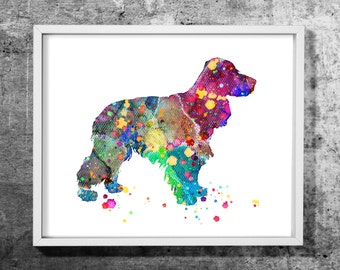 Spaniel design03  watercolor art print, Watercolor painting, Dog, Animal, Decorative dog art, Colorful wall decor, INSTANT DOWNLOAD