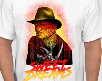 298ccaf6f73 Freddy Krueger sweet dreams t shirt A Nightmare on Elm Street Freddy  Krueger t shirt Freddy Krueger tees horror Movie sweet dreams T-shirt