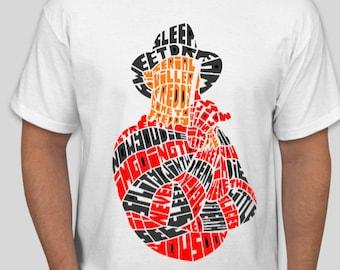 2391a515438 Freddy Krueger t shirt A Nightmare on Elm Street Freddy Krueger t shirt  Freddy Krueger tees horror Movie Calligraphy T-shirt