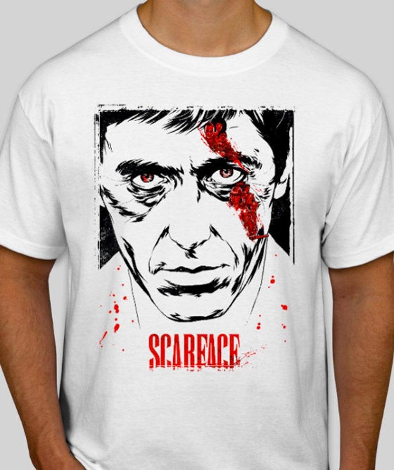 ec21033659f ... scarface t shirt tony montana movie tee al pacino t shirt etsy ...
