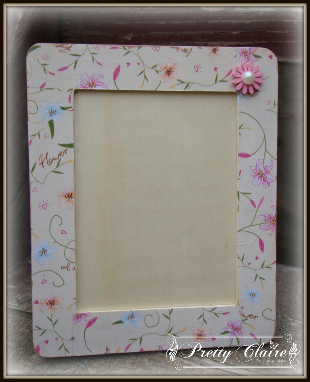 Decoupage photo frame kids room decoration baby shower gift   Etsy