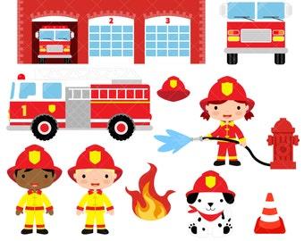 firefighter clipart etsy rh etsy com fire fighting clip art firefighter clipart black and white