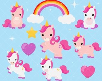 Unicorn Clipart / Cute Unicorn Clip Art / Baby Unicorns