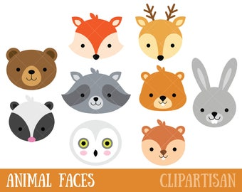 Animal Faces Etsy