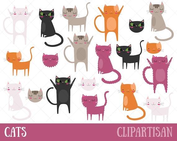 Gato imágenes prediseñadas Gatito de Clip Art Imágenes | Etsy