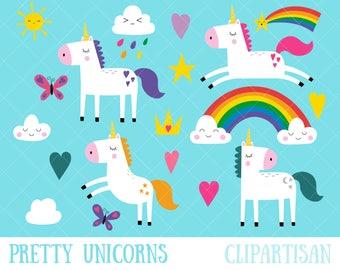 Unicorn Clipart / Pretty Unicorns Clip Art