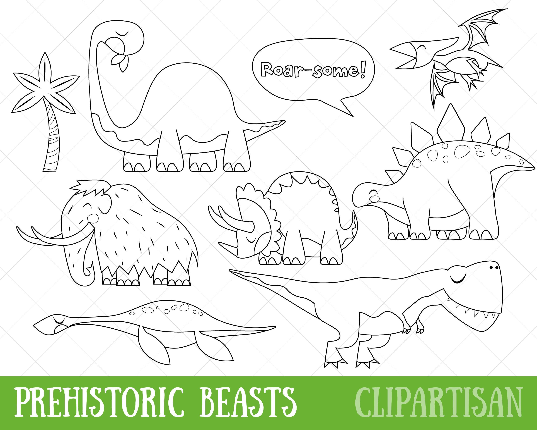 Dinosaurio imágenes prediseñadas Animales prehistóricos
