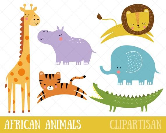 Clipart de animales africanos | Safari Clip Art | Animales selva ...