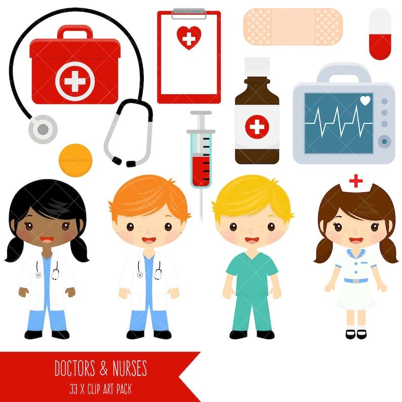 Medico e infermiera Clipart   carino medici e infermieri Clip  4ed31af89708