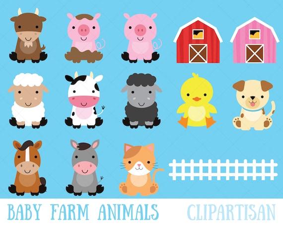 Farm Baby Animals Clipart Cute Animal Barnyard