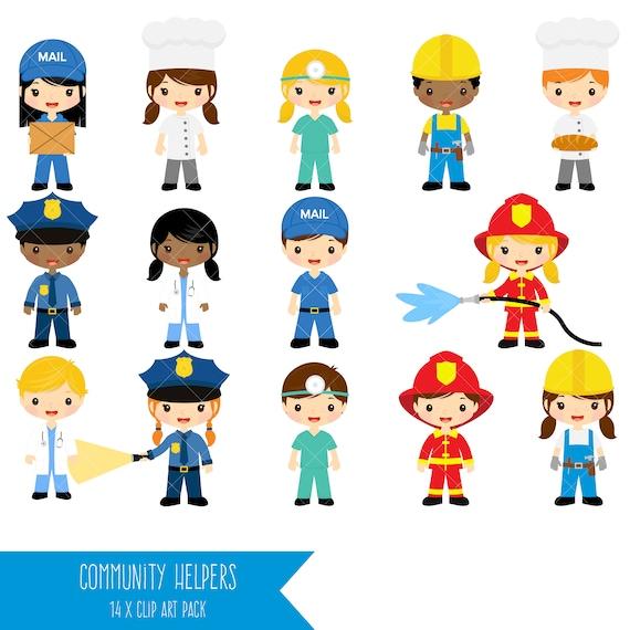 community helpers clipart job clip art profession clipart rh etsy com community helpers clipart free community helpers clipart with names