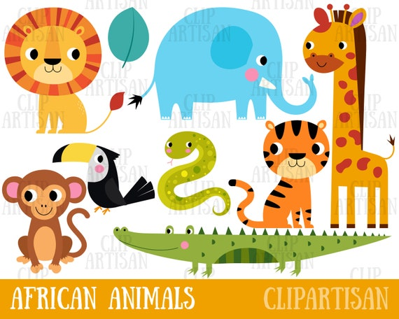 It is a photo of Printable Safari Animals intended for clipart
