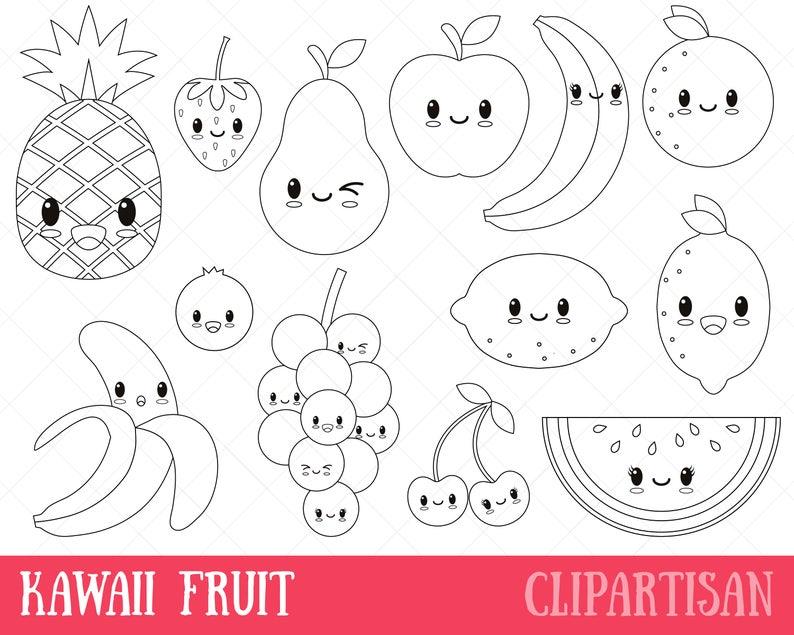 kawaii essen ausmalbilder