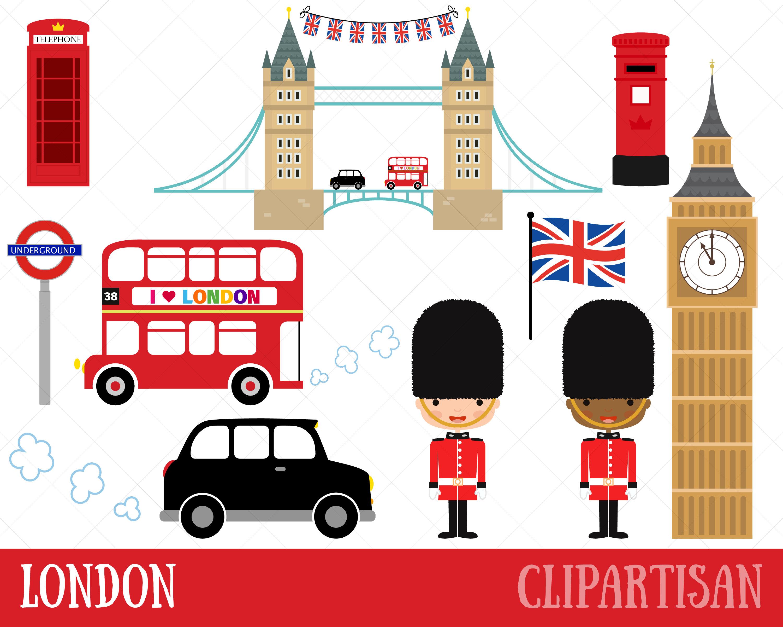 London Clipart / British Clipart / England | Etsy