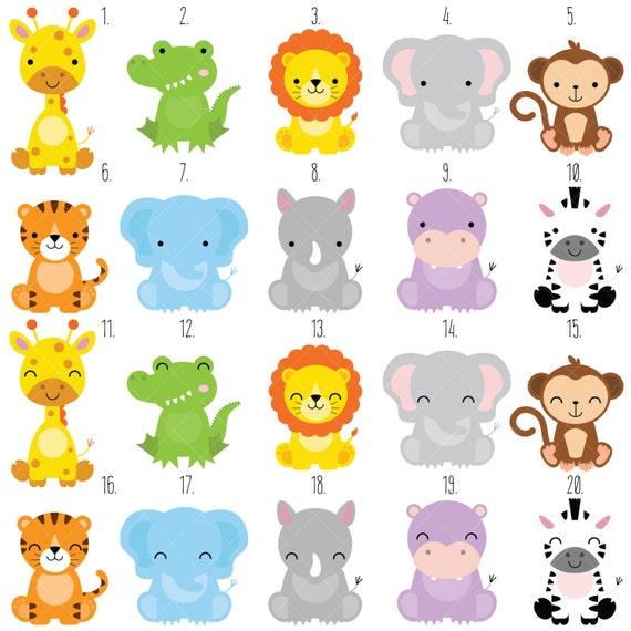 Clipart de animales bebé Safari / selva animales imágenes | Etsy
