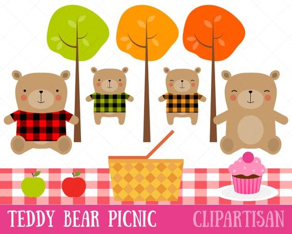 Teddy Bear Clipart Teddy Bear Picnic Clipart Picnic Etsy