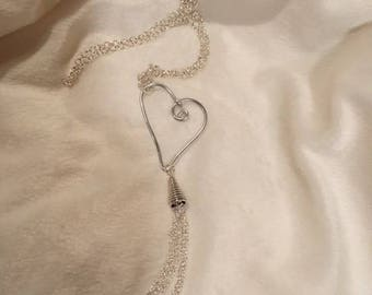 Tassel Necklaces with Hearts and Circles