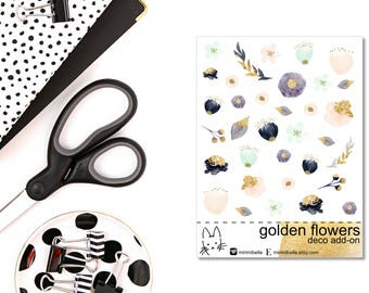 Golden Flowers Add-On Sticker!