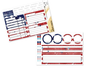 JULY - Happy 4th - Monthly Notes Page II Erin Corndren Life Planner