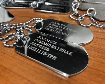 Mens Personalized Dog Tag Necklace - Husband Gift - Boyfriend Gift -  Engraved Necklace - Gift for Dad - Custom Dog Tags e7b17e337be
