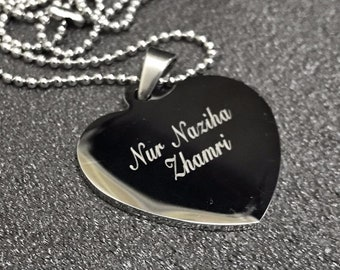 Engraved Heart Necklaces Unique Gifts Women (RE 22)