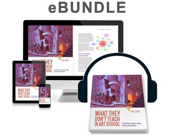 What They Don't Teach in Art School. Combo. E-book & Audio book. Artist's Guide to Make Money