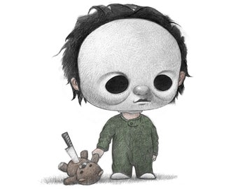 """11X14"""" Baby Michael My a serial killer, Color Print, Signed by the artist, Will Terry"""