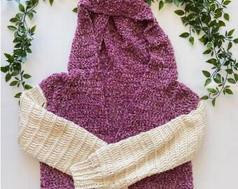 Velvet and Cotton Crochet Sweater