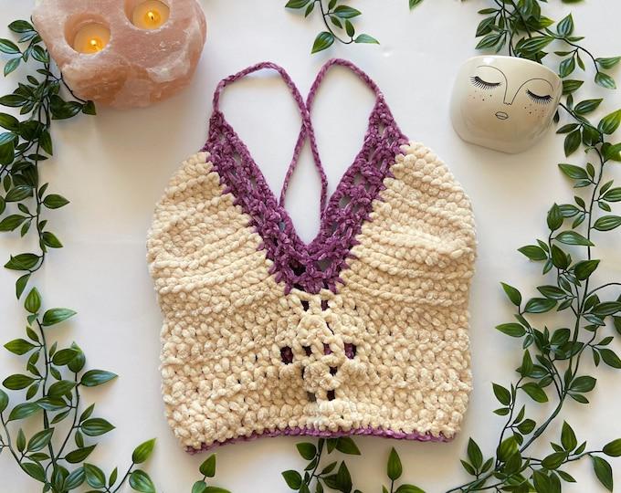 Fairy Velvet Crochet Top