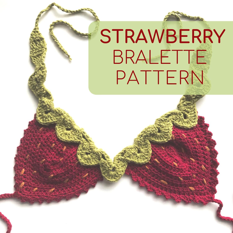 Strawberry Crochet Top Pattern Crochet Bralette Pattern Only Etsy