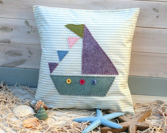 Sailboat Cushion Sewing Kit