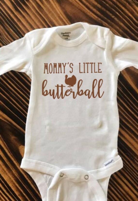 Mommy/'s Little Turkey Baby Onesie Shirt Thanksgiving Mom Mother Newborn Gerber
