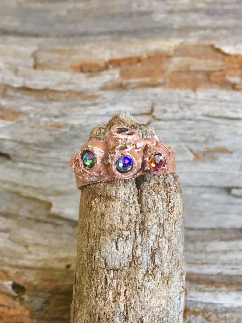 Ring Holder Crystal Small Cupped Healing Hand